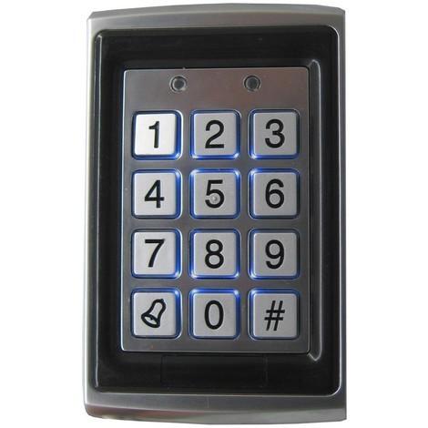 Teclado control acceso autónomo tarjeta de proximidad o pin