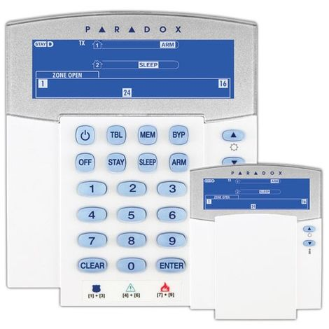 Teclado Paradox con pantalla LCD de iconos vía radio bidireccional