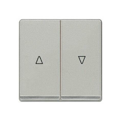 Teclas dobles persianas cromadas aluminio metalizado Siemens Delta Miro 5TG6276-5CA00