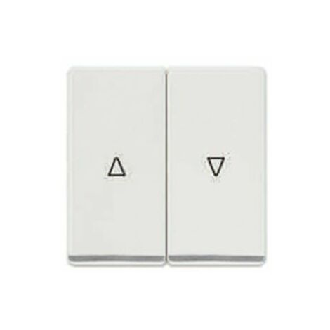 Teclas dobles persianas cromadas blanco polar Siemens Delta Miro 5TG6276-5CW00