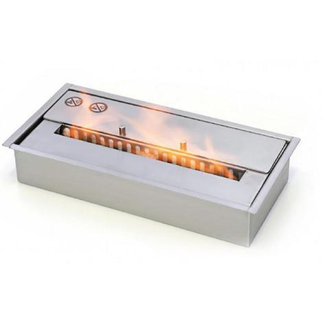 Tecno-air-system Brûleur 2 L pour cheminée au bioéthanol en acier chauffage BIOBR2TP