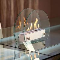 Tecno-air-system Cheminée de table au bioéthanol blanche chauffage design maison GUBBIO