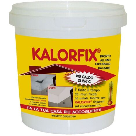 Tecnostuk - KALORFIX FIXATEUR ISOLANT THERMIQUE 1 litre