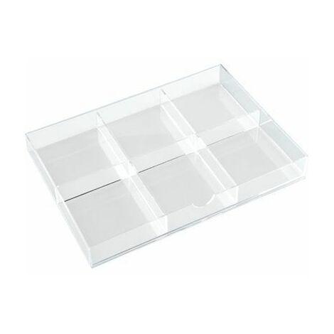 Tecnostyl K15ACRD040 Séparateur pour tiroir à 3 compartiments en acrylique