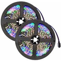 tectake 2 LED light strip flexible 5m 300 LEDs