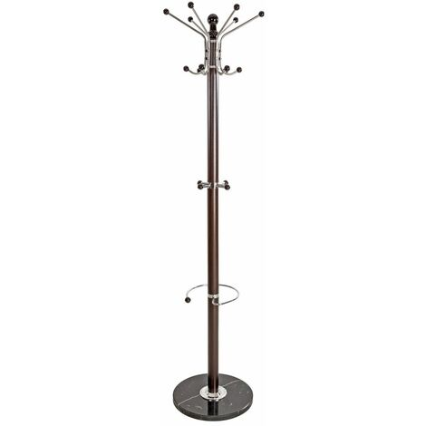 Coat stand - coat rack, coat hook rack, clothes stand - black/brown