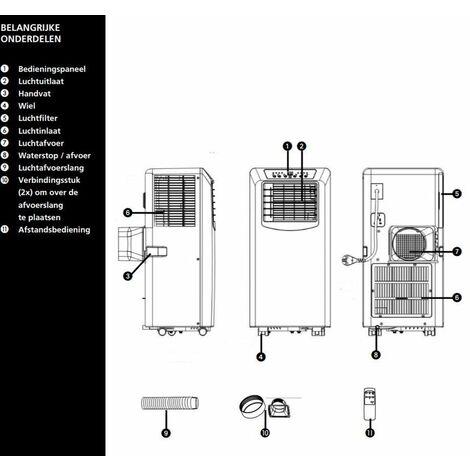 Tectro TP 2020 Aire acondicionado portátil