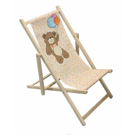 Teddy - Wooden Folding Decking Chair for Kids Outdoor Garden Patio Balcony Camping