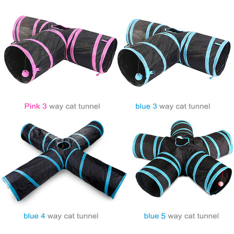 Tee foldable cat channel blue
