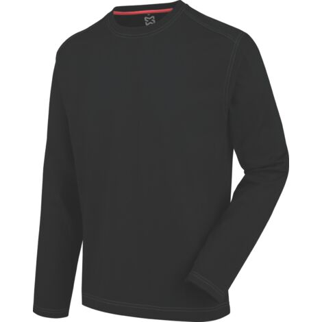 Tee-shirt de travail à manches longues Pro Würth MODYF noir