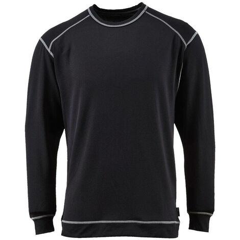 c3abc84527d Tee-shirt de travail manches longues base pro antibactérien Portwest  baselayer Noir