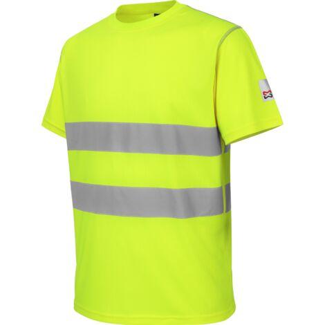 Tee-shirt de travail microporeux Würth MODYF haute-visibilité jaune