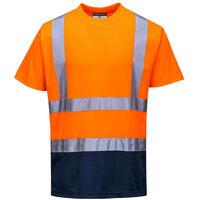 Tee-shirt haute Visibilité Portwest bicolore Orange / Marine