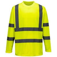 Visibilité Tee Haute Shirt Jaune Longues Manches Portwest 7fbygY6