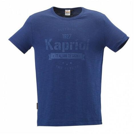 Tee-shirt manches courtes VINTAGE bleu KAPRIOL - plusieurs modèles disponibles