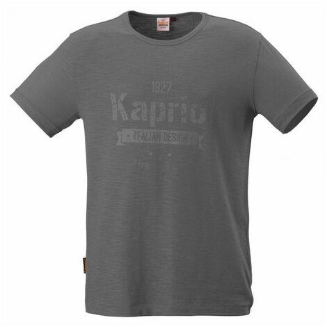 Tee-shirt manches courtes VINTAGE gris KAPRIOL - plusieurs modèles disponibles