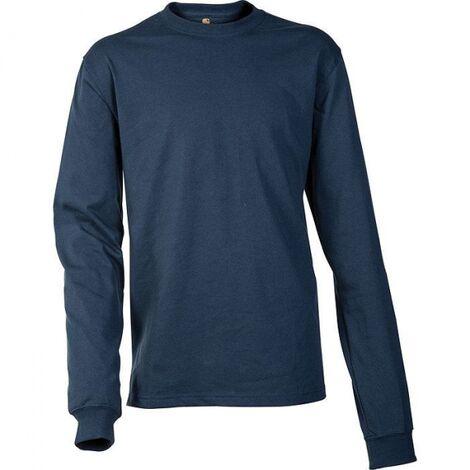 Couleurs variées 1633d 2ef5a Tee shirt manches longues Carhartt 100% coton Marine