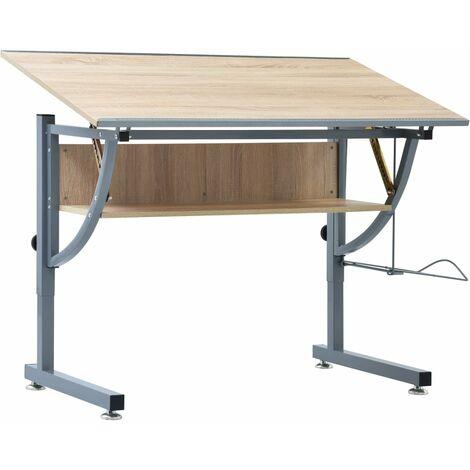 Teenager's Drafting Table Oak 110x60x87 cm MDF - Brown