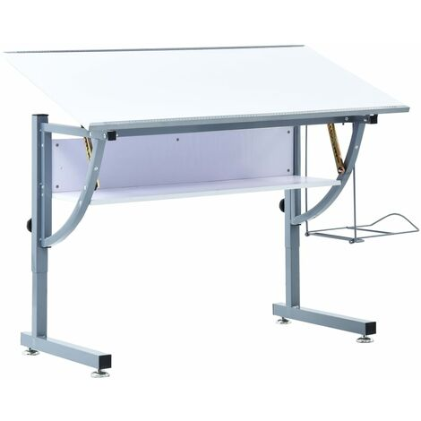Teenager's Drafting Table White 110x60x87 cm MDF - White