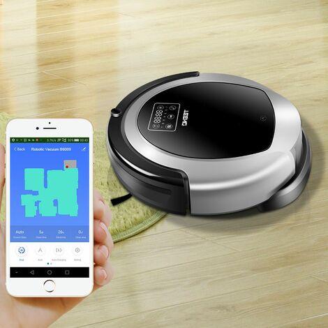 TEENO Aspirateur robot laveur WiFi - Multifonction 2 en 1 - Commande vocale Alexa et Google