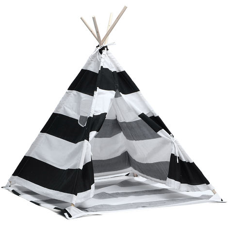 Teepee tent for children in cotton canvas 1,8m Stripe
