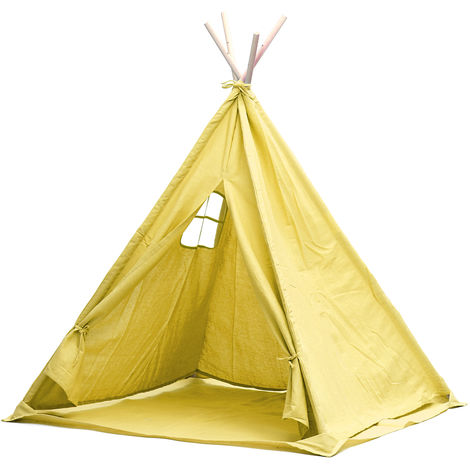 Teepee tent for children in cotton canvas 1,8m Yellow