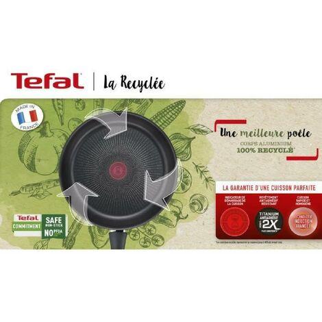 TEFAL G2870402 La Recyclée poele 24cm. 100% Aluminium recyclé. revetement anti-adhésif. tous feux dont induction