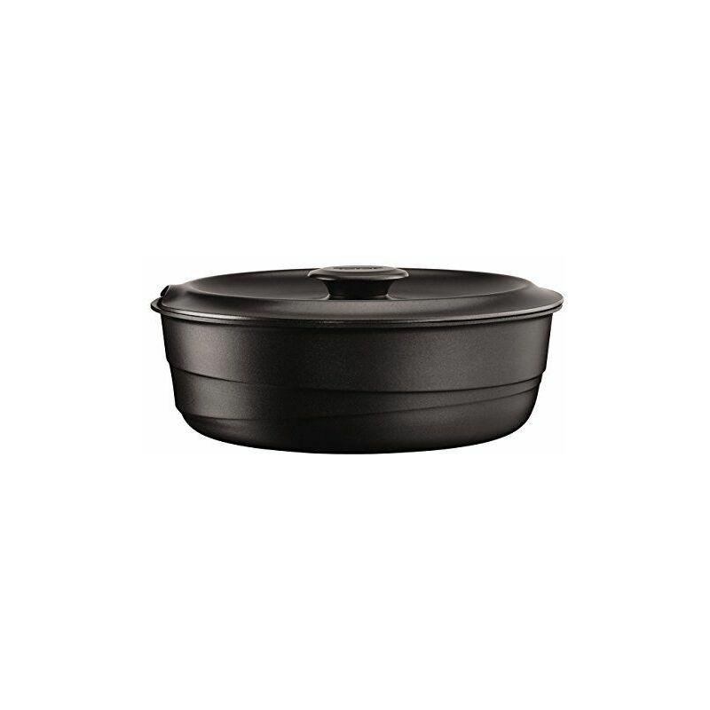 Tefal L8563204 Sauteuse et Couvercle Fonte, Aluminium, Noir, 24 cm