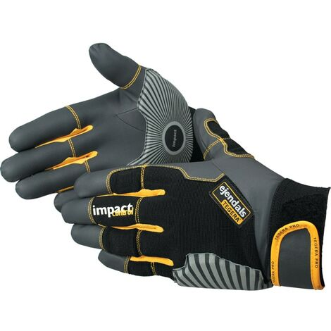 Tegera 9185 Pro Palm-side Coated Black/Grey Gloves