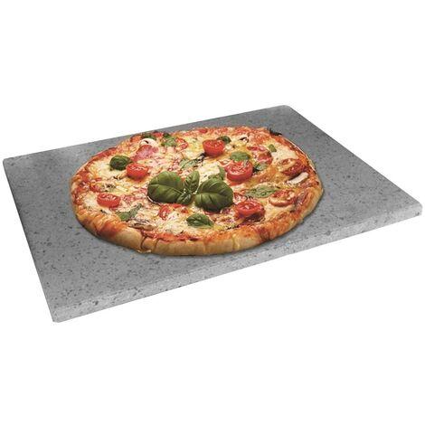 Teglia Pizza Pietra Lavica Etna Forno Grill Barbecue Piastra Bistecchiera 34x40