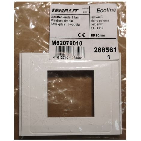 Tehalit M62079010 Single breastplate app. 45mm for BR/A - white Paloma