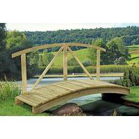 Teichbrücke Kiefernholz 80 x 250 cm