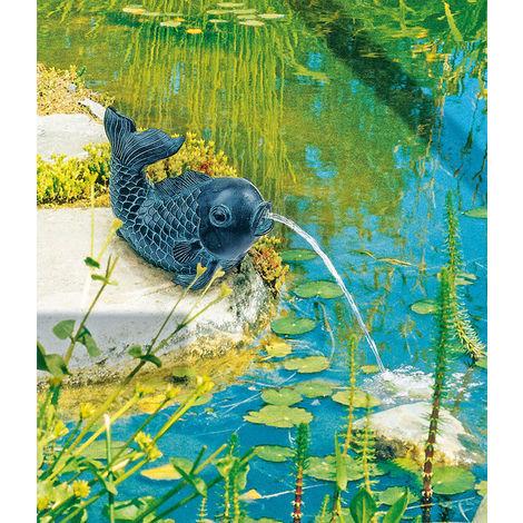 Teichfigur Fisch LxBxH 18 x 16 x 13 cm Dekor Kupfer