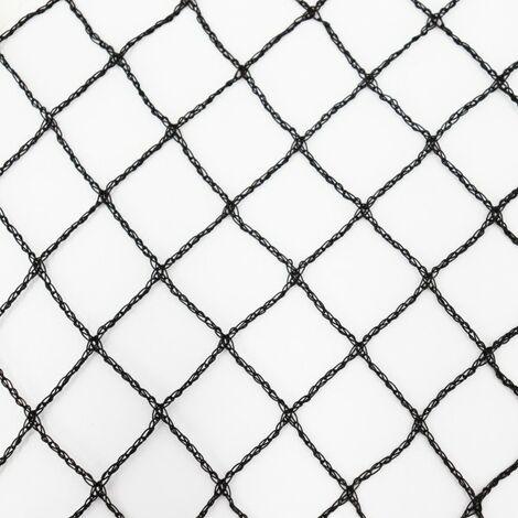 Teichnetz 25m x 12m schwarz Fischteichnetz Laubnetz Netz Vogelschutznetz robust