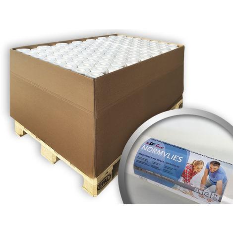 Tejido sin tejer de protección mural pintable 150 g Profhome 299-150 papel de pared no tejido liso pintable para reformas | 96 rollos 1800 m2