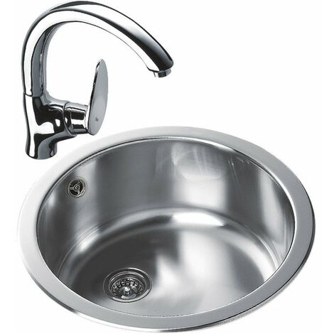 Teka Erc 1 Bowl Round Inset Kitchen Sink Stainless Steel