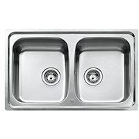 Teka mitigeur évier de cuisine en acier inoxydable pour évier encastrable avec 2 bacs - 2C uNIVERSO cN mAT