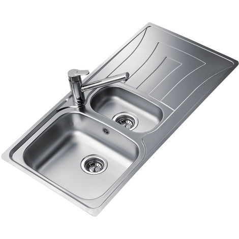 Teka Universo 1 And A Half Bowl And Drainer Inset Reversible Kitchen Sink Stainless Steel