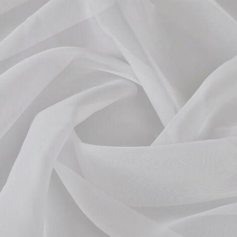 Tela blanca de voile, 1,45 x 20 m