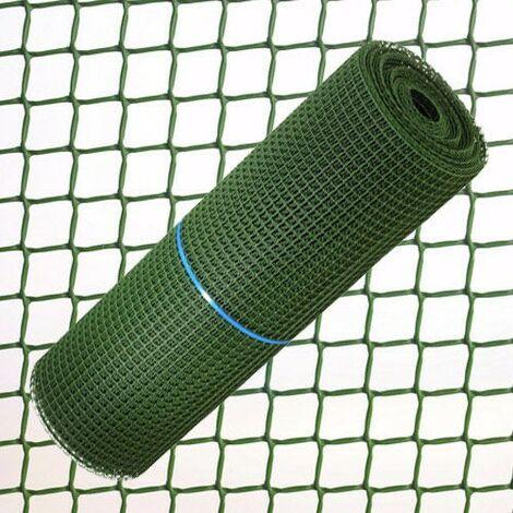 Tela cuadrada plastico 0,5 cm. x 1 metro verde rollo 25 metros