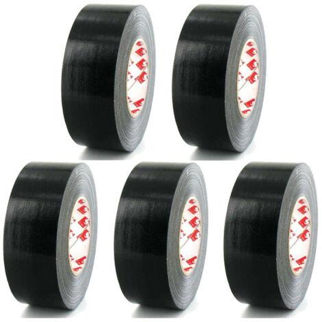 tela de cinta adhesiva Scapa 3120 negro de 50 mm x 5