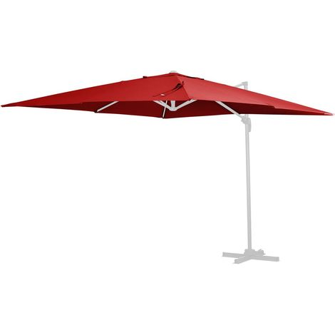 Tela de recambio para el parasol Sun 4 - 3 x 4 m - Rojo