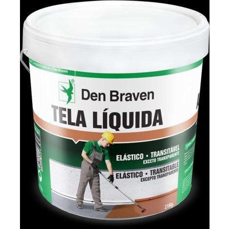 Tela Liquida Antigoteras 1kg - Den Braven St4 - Pack 1 - Color Terracota