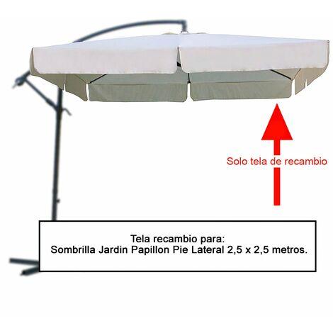 Tela recambio sombrilla pie lateral cuadradada 2.5x2.5 metros (08091058)