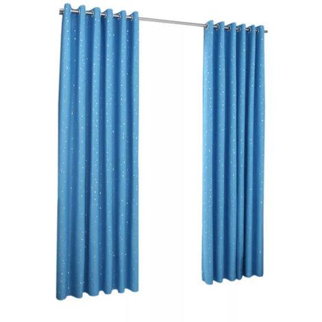 Telas aislantes correderas Patio cortina de puerta para la ventana de la sala puerta de patio, 1 Panel, azul cielo, 100cmX250cm