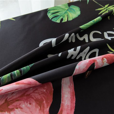 Telas aislantes del flamenco impresion termica aislando la sala de oscurecimiento cortinas para la sala de estar 100 * los 250CM, C
