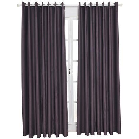 """Telas aislantes termico de habitaciones de aislamiento oscurecimiento cortinas, 39 """"X51"""", gris"""