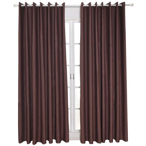 Telas aislantes termicos aislando la sala de oscurecimiento cortinas para la sala de estar 100 * 130cm, Brown