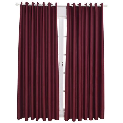 """Telas aislantes termicos aislando la sala de oscurecimiento cortinas para la sala de estar de 39 """"X51"""", rojo vino"""