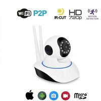 Telecamera Ip Cam Camera Hd 720P Wireless Led Ir Lan Motorizzata Wifi Rete Onvif
